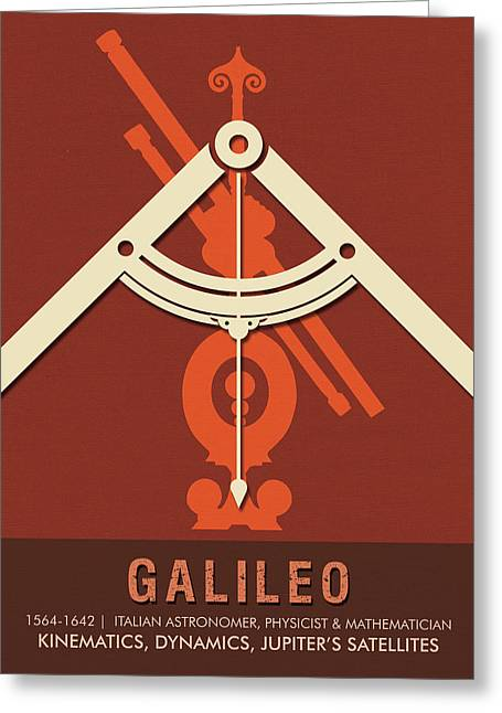 Science Posters - Galileo Galilei - Astronomer, Physicist, Mathematician Greeting Card