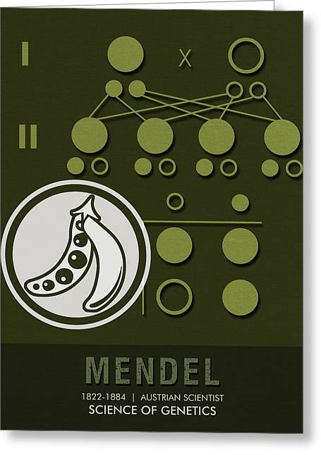 Science Posters - Gregor Mendel - Geneticist, Scientist Greeting Card
