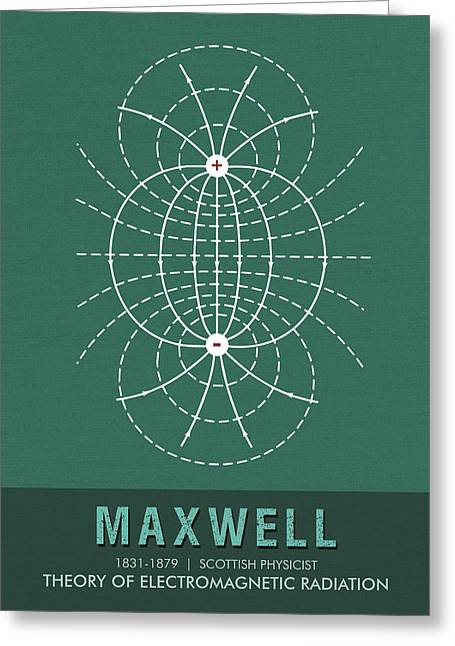 Science Posters - James Clerk Maxwell - Physicist Greeting Card