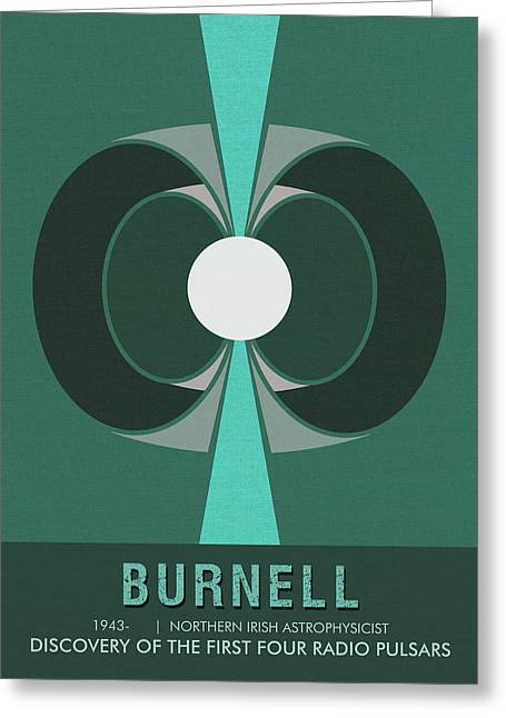 Science Posters - Jocelyn Bell Burnell - Irish Astrophysicist Greeting Card