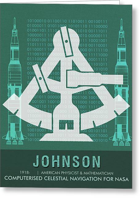 Science Posters - Katherine Johnson - Mathematician, Physicist Greeting Card