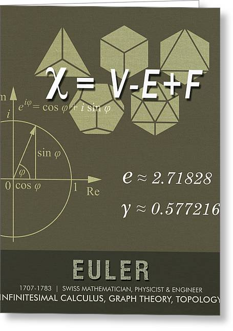 Science Posters - Leonhard Euler - Mathematician, Physicist, Engineer Greeting Card
