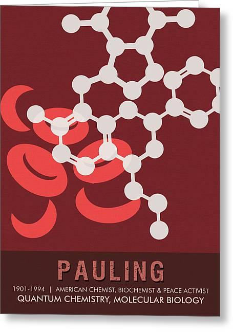 Science Posters - Linus Pauling - Chemist, Biochemist, Peace Activist Greeting Card