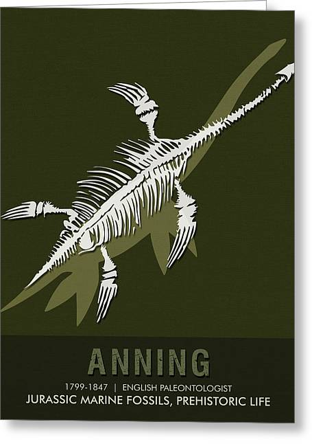 Science Posters - Mary Anning - Paleontologist Greeting Card