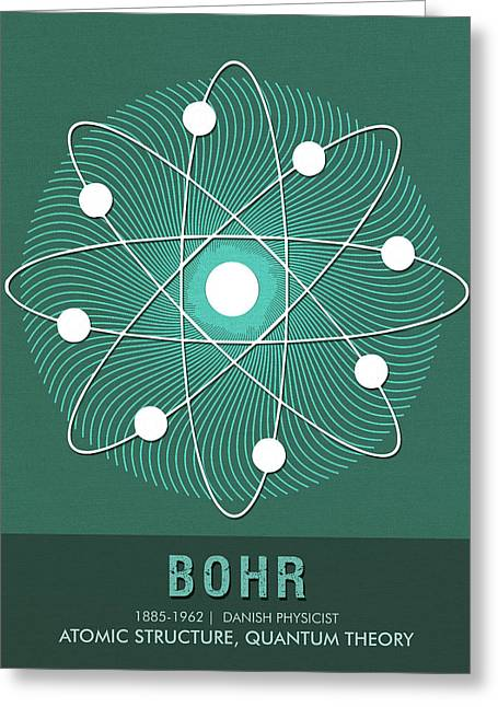 Science Posters - Niels Bohr - Physicist Greeting Card