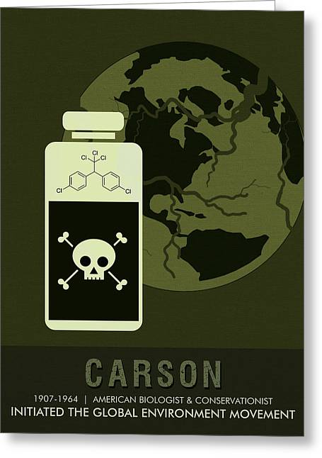 Science Posters - Rachel Carson - Biologist, Conservationist Greeting Card
