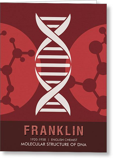 Science Posters - Rosalind Franklin - Chemist Greeting Card