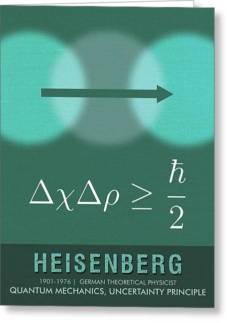 Science Posters - Werner Heisenberg - Theoretical Physicist Greeting Card