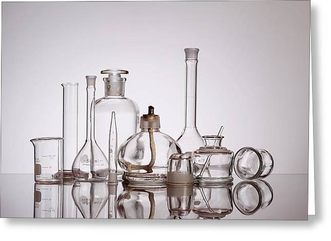 Scientific Glassware Greeting Card by Tom Mc Nemar