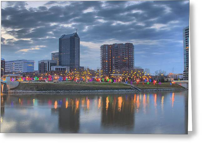 Greeting Card featuring the photograph Scioto Morning 3567 by Brian Gryphon