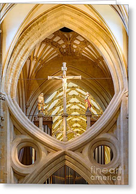 Scissor Arches, Wells Cathedral Greeting Card