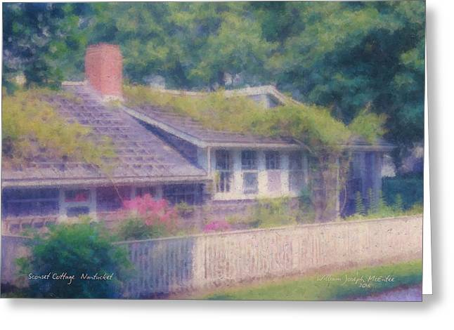 Sconset Cottage #3 Greeting Card