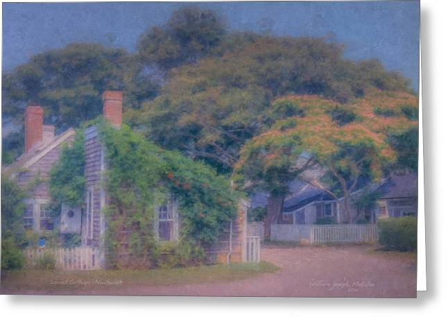 Sconset Cottages Nantucket Greeting Card