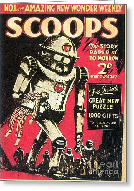 Scoops Science Fiction Magazine 1934 Greeting Card