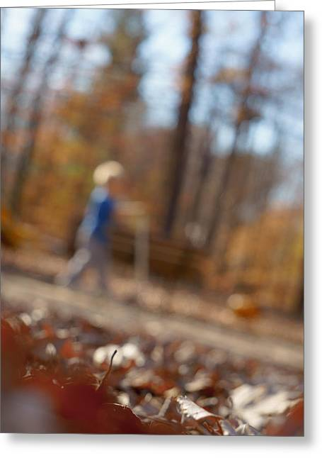 Greeting Card featuring the photograph Scootering At The Park by Greg Collins