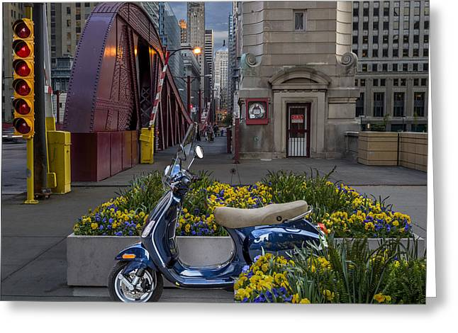 Scooting Around Chicago Greeting Card