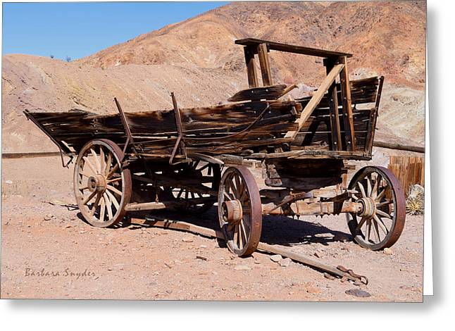 Scorched And Abandoned At Calico Ghost Town Photo Greeting Card