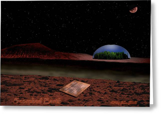 Scorched Earth Greeting Card by John Shioli