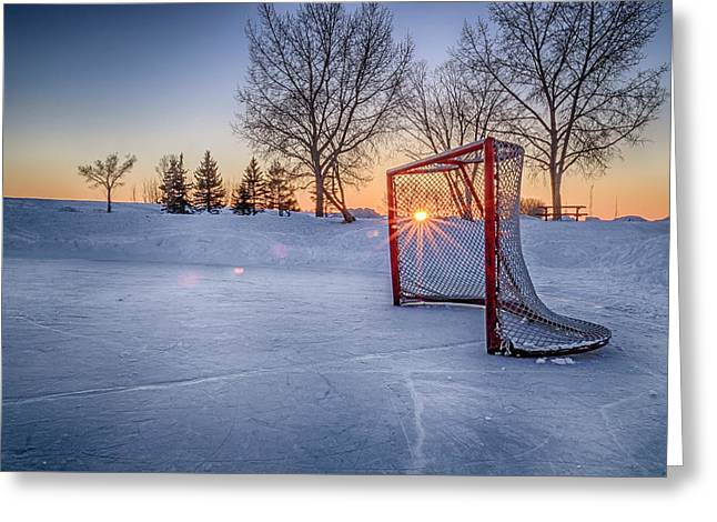 Greeting Card featuring the photograph Scoring The Sunset 3 by Darcy Michaelchuk