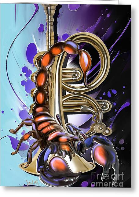 Scorpio Greeting Card by Melanie D