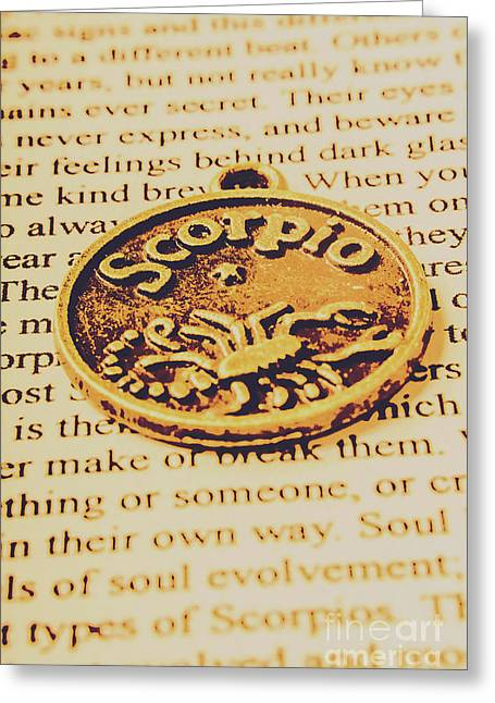 Scorpio Star Sign Token Greeting Card by Jorgo Photography - Wall Art Gallery