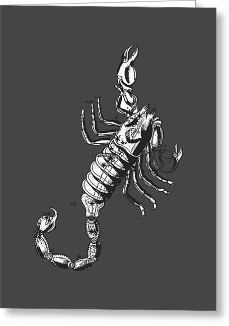 Scorpio Zodiac Sign Vintage Tee Greeting Card by Edward Fielding