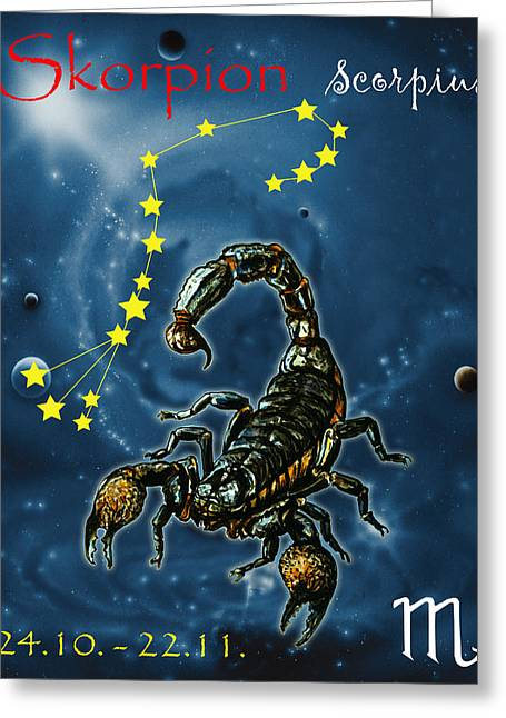 Scorpius And The Stars Greeting Card