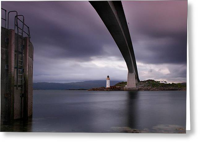 Scotland Skye Bridge Greeting Card by Nina Papiorek