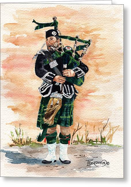 Scotland The Brave Greeting Card by Timithy L Gordon