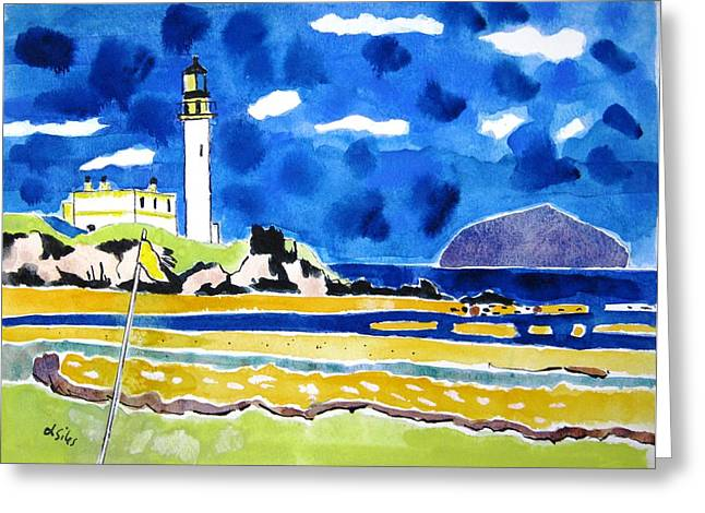 Scotland Turnberry 10 Greeting Card by Lesley Giles