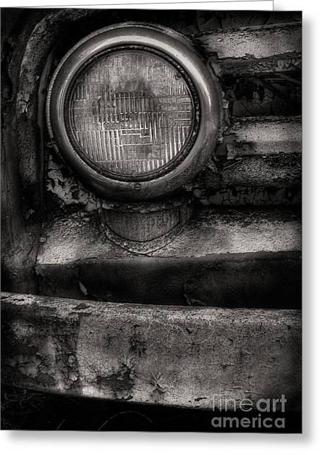 Scotopic Vision 7 - Headlight Greeting Card by Pete Hellmann