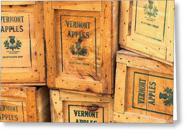Scott Farm Apple Boxes Greeting Card