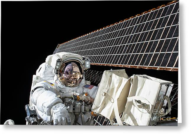 Scott Kelly, Expedition 45, Second Eva Greeting Card