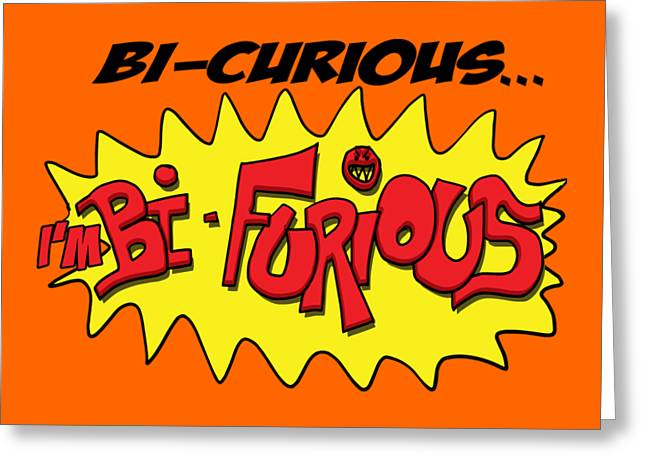 Scott Pilgrim Vs The World  Bi-curious I Am Bi - Furious Greeting Card