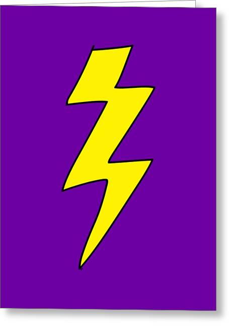 Scott Pilgrim Vs The World Lightning Bolt Greeting Card