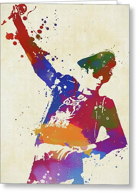 Scott Weiland Paint Splash Greeting Card