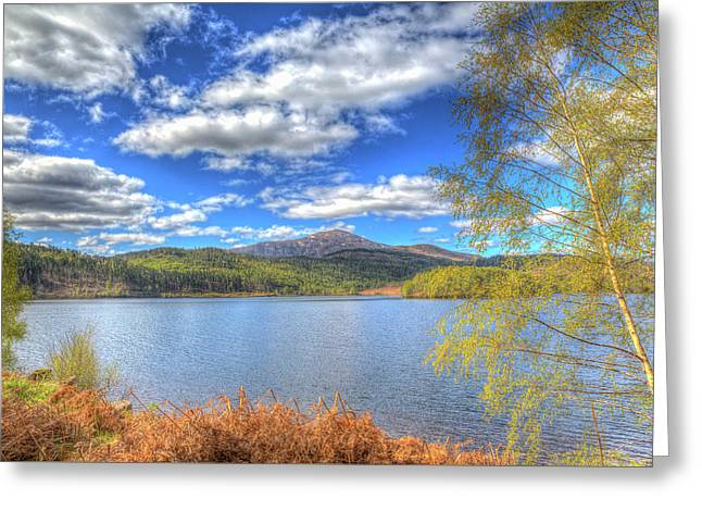 Scottish Loch Garry Scotland Uk Lake West Of Invergarry On The A87 South Of Fort Augustus Hdr Greeting Card