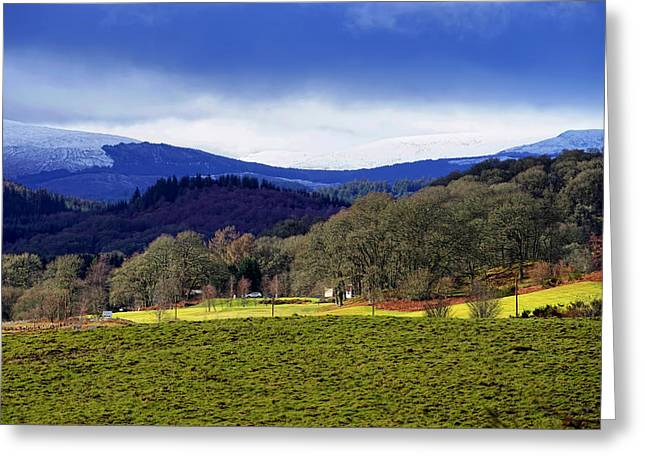 Greeting Card featuring the photograph Scottish Scenery by Jeremy Lavender Photography