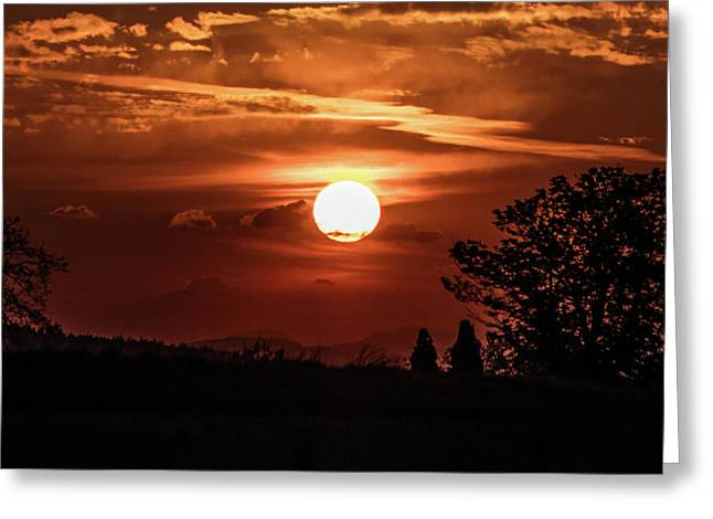 Scottish Sunset Greeting Card by Buster Brown