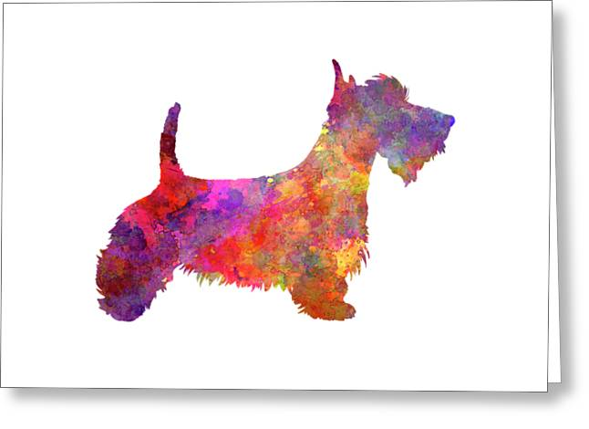Scottish Terrier In Watercolor Greeting Card by Pablo Romero