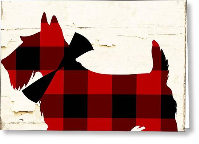 Scottish Terrier Tartan Plaid Greeting Card