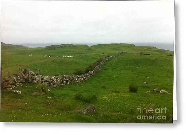 Greeting Card featuring the photograph Scottish Wall by Mary K Conaboy
