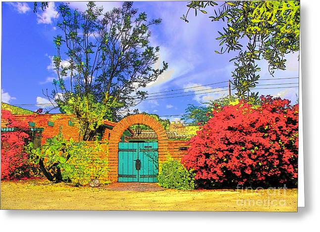 Scottsdale Gate Greeting Card