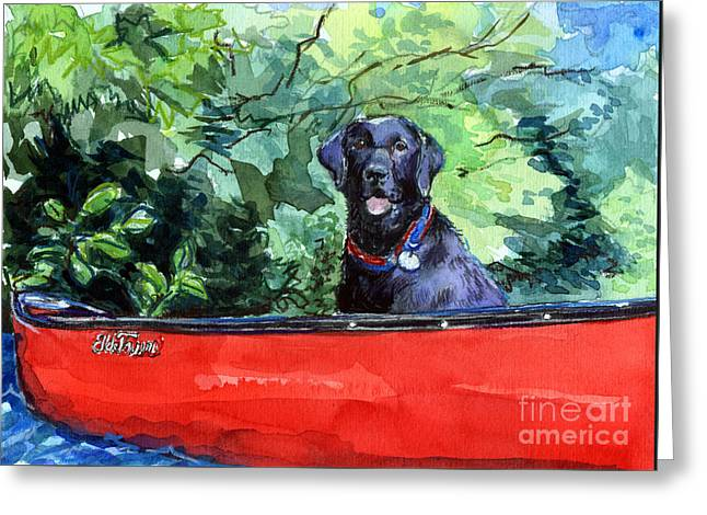 Scout In Canoe Greeting Card