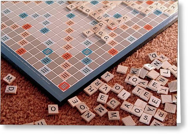 Scrabble Board Greeting Card