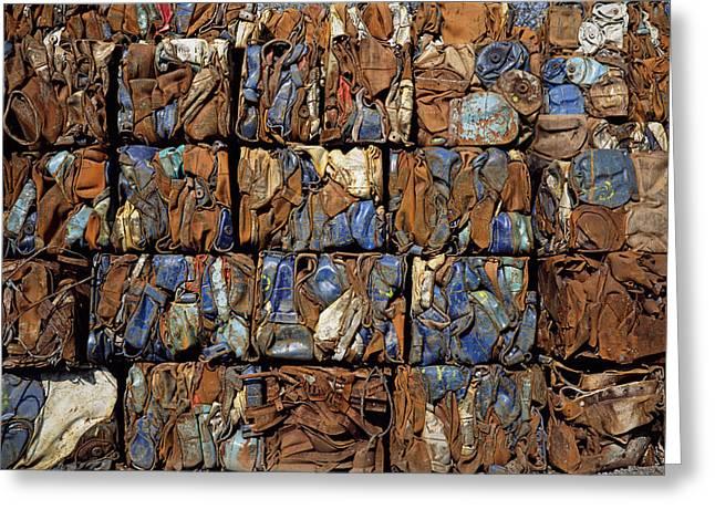 Scrap Metal Bales Greeting Card by Dirk Wiersma