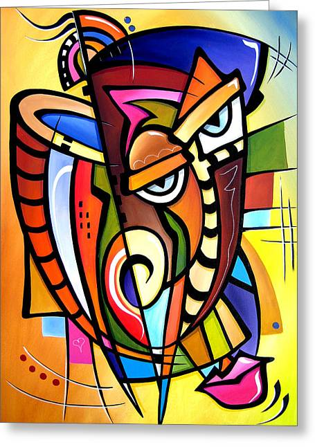 Picasso Mixed Media Greeting Cards - Scratching Post  Greeting Card by Tom Fedro - Fidostudio