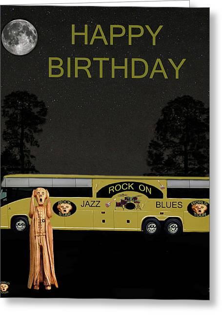 Scream Music Tour Happy Birthday Greeting Card
