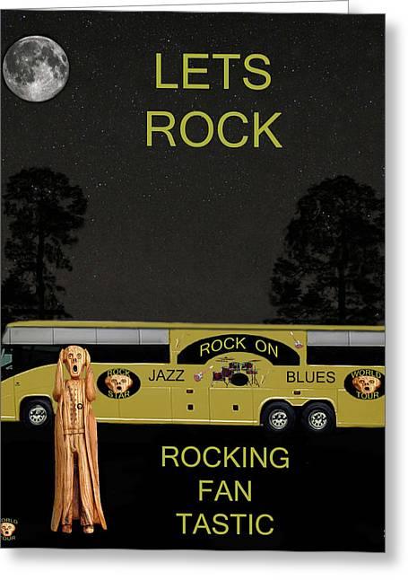Scream Rock You Tour Greeting Card
