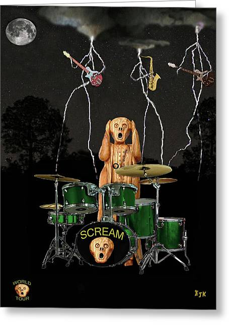 Scream World Tour Mixed Media Greeting Cards - Scream Unplugged Tour Greeting Card by Eric Kempson
